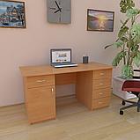 Стіл робочий з висувними ящиками і тумбою СР-6. Письмові столи, фото 7