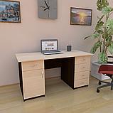 Стіл робочий з висувними ящиками і тумбою СР-6. Письмові столи, фото 8