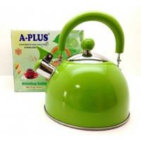 Чайник для газовой плиты, 2 л. Зеленый (1340)