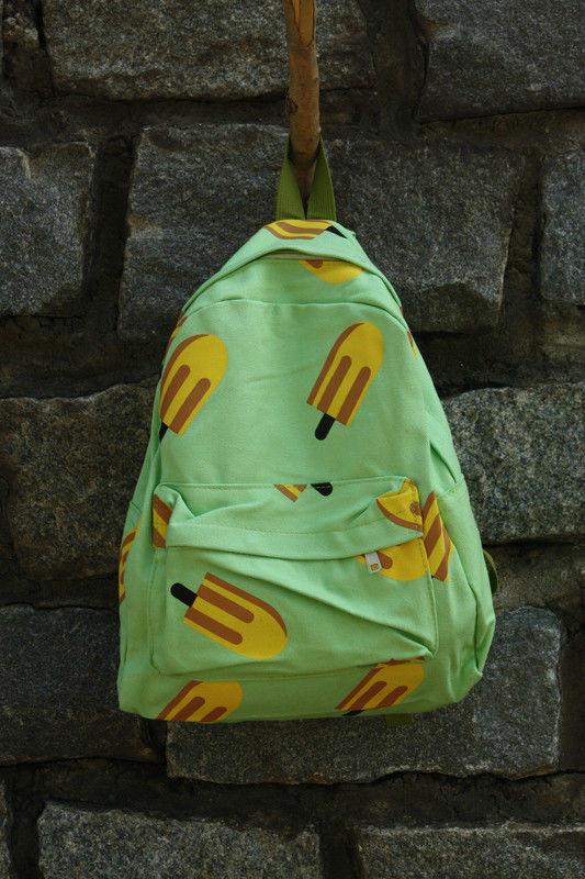 стильный рюкзак с мороженным