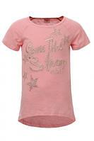 Стильная футболка-туника  для девочки р.98 -116см