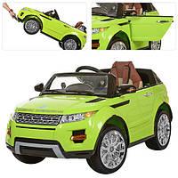 Детский электромобиль Range Rover Evoque Bambi M 2398 MP4 EBR-5, на р/у,планшет, зеленый