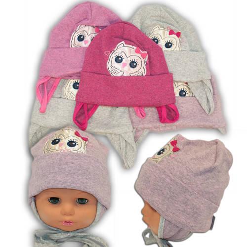 Детские шапки из трикотажа с завязками, AB14-2
