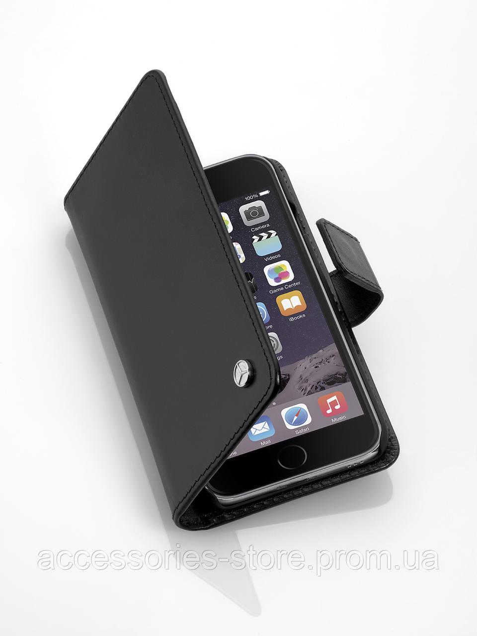 Чехол для iPhone 7 Mercedes-Benz Cover for iPhone® 7, Black, Business Series, Calfskin