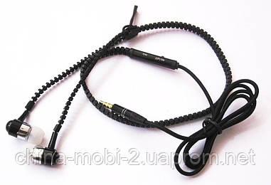 Наушники Zipper гарнитура с микрофоном, black new