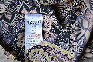 Кроп-топ в принт с широким воланом Missguided, фото 2