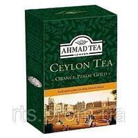 Чай Ахмад листовой черный Цейлон Оранж Пеко Голд (200г)