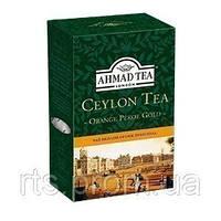 Чай Ахмад листовой черный Цейлон Оранж Пеко Голд (100г)