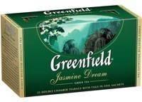 Чай зеленый ГРИНФИЛД (термопакет) Jasmine Dream (25x2r)