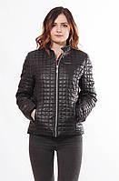 Женская весенняя черная куртка Саша 1-К 44-68 размеры