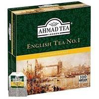 Чай Ахмад пакетированый черный Английский №1 (100х2г)
