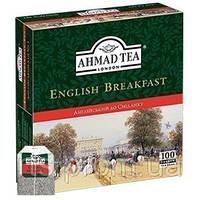 Чай Ахмад пакетированый черный Английский к завтраку (100х2г)