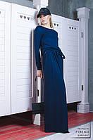 Платье  женское, темно-синее, осень-зима P-CRIS №43