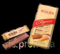 Шоколад «ROSHEN Elegance» темный молочный с дробленым миндалем 100 гр.