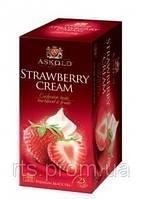 Чай черный Аскольд Strawberry cream, пакетированный 25 х 2 гр.