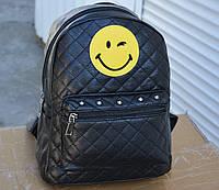 Женский мини рюкзак кожзам кожа кожаный черный , фото 1