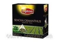 Чай травяной Lipton Sencha Osmantus Green ( с лепестками розы) в пирамидках20*1,8 гр (36 гр)