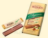 Шоколад «ROSHEN Elegance» темный молочный с дроблеными лесными орехами 100 гр.