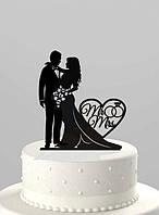 Топпер для свадебного торта