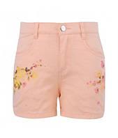 Стильные котоновые шорты для девочки  р.98-122см