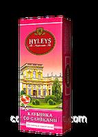 Чай фруктовый Хейлис Английский клубника со сливками, пакетированный 25 х 1,5 гр.