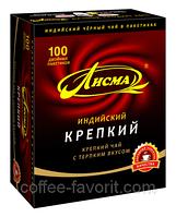 Чай черный Лисма Крепкий Индийский, пакетированный 100 х 2 гр.
