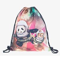 Рюкзак-мешок для обуви с рисунком Панды городской