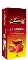Чай черный Лисма Клубника, пакетированный 20 х 1,5 гр.