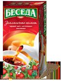 Чай черный БЕСЕДА земляничные поляны, пакетированный 26 х 1,5 гр.