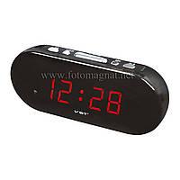 Часы сетевые VST 715-1 красные настольные (электронные цифровые часы)