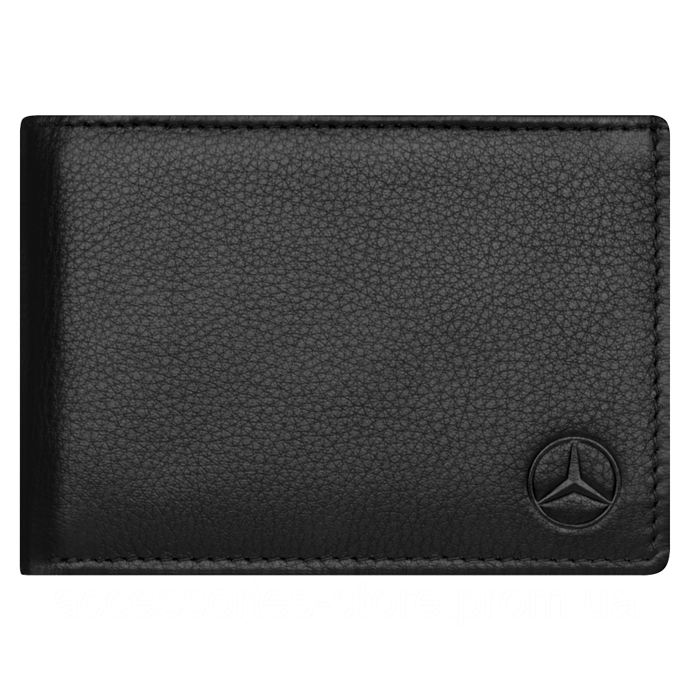 Кожаный кошелек Mercedes Mini wallet, Basic, Black Leather,