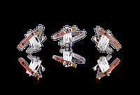 НАБОР серебряные серьги 925 пробы и кольцо с золотыми пластинами 375 пробы,вставками,накладками ЗОЛОТА АГАТА
