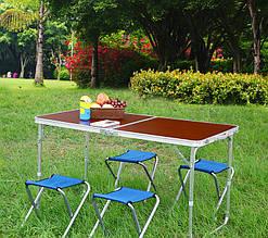 Стол для пикника + 4 стула Alonzo, складной стол - чемодан