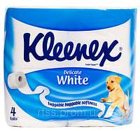 Бумага туалетная Клинекс 2-х слойная белая 4 шт в упаковке