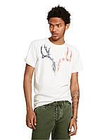 Светлая футболка с принтом Ральф Лорен