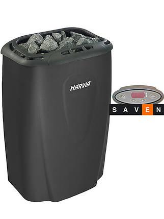 Электрическая каменка Harvia Moderna V45E черная для сауны и бани, фото 2