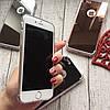 Силиконовый зеркальный чехол с вырезом под яблоко для iPhone 8, фото 2