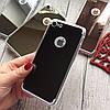 Силиконовый зеркальный чехол с вырезом под яблоко для iPhone 8, фото 5