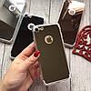 Силиконовый зеркальный чехол с вырезом под яблоко для iPhone 8, фото 6