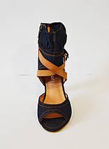 Джинсовые женские босоножки Brocoli, фото 2