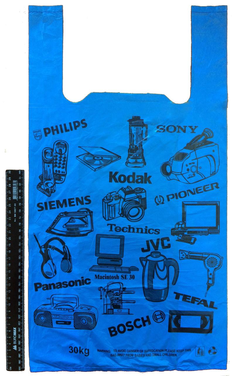 """Пакет полиэтиленовый-майка """"Электроника"""" 30*55 см, 1000 шт."""