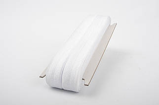 20 mm Bias Elastic / 20 m / White