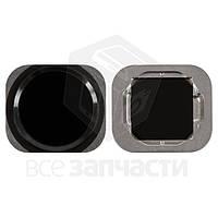 Пластик кнопки меню Apple iPhone 6, iPhone 6 Plus, iPhone 6S, iPhone 6S Plus Black (high copy)