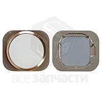 Пластик кнопки меню Apple iPhone 6, iPhone 6 Plus, iPhone 6S, iPhone 6S Plus Gold (high copy)