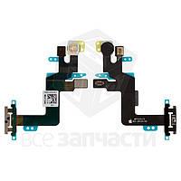 Шлейф Apple iPhone 6S Plus кнопки вкючення, вспышки и микрофона (high copy)