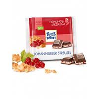 Молочный шоколад Ritter Sport Johannisbeer Streusel- с начинкой смородиново-йогуртовый мусс