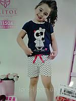 Пижама с шортами для дочки