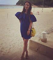 Платье №Ft253, синее