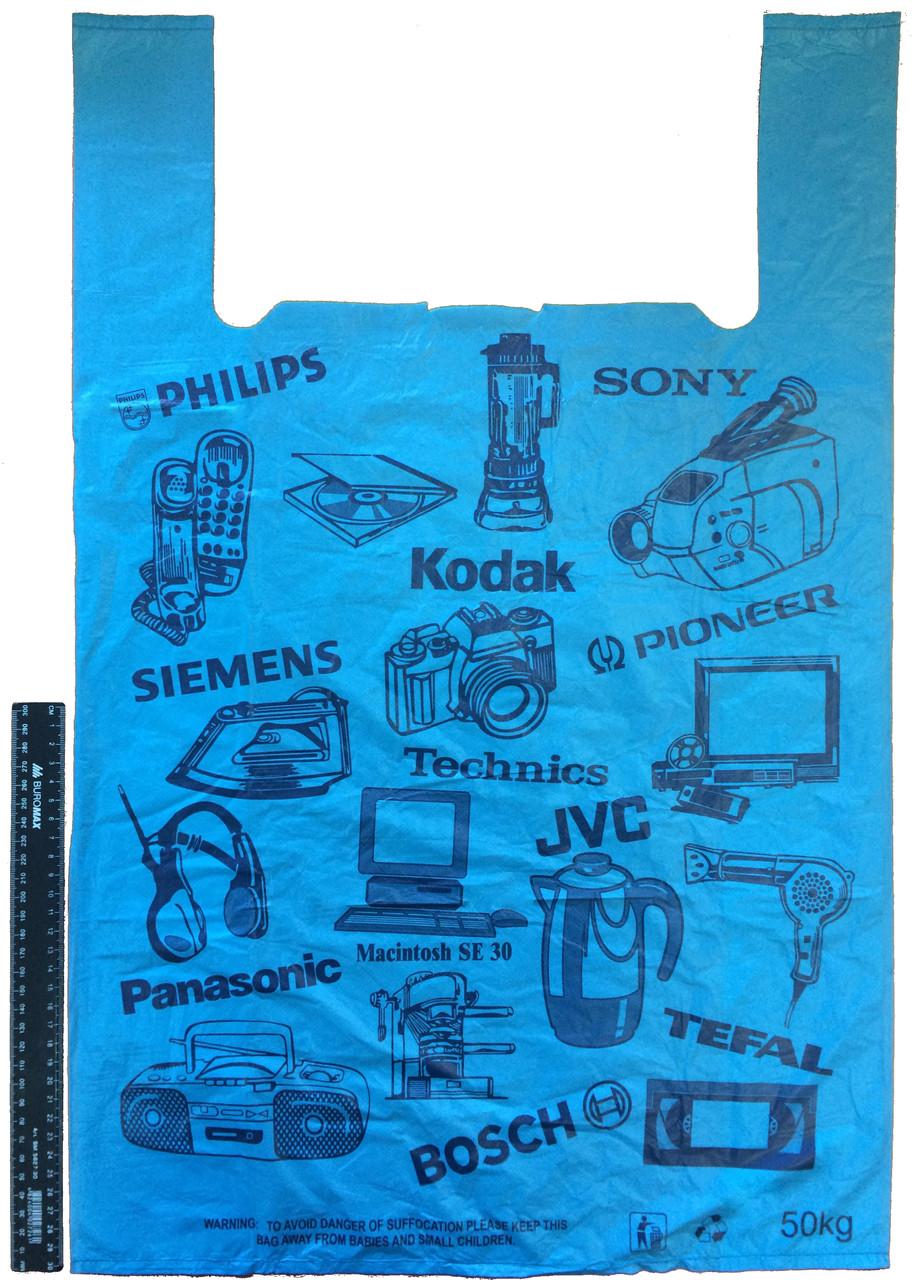 """Пакет полиэтиленовый-майка """"Электроника"""" 43*68 см, 500 шт."""