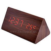 Часы сетевые 861-1 красные  настольные (электронные цифровые часы)